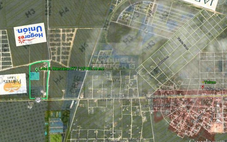Foto de terreno habitacional en venta en  913, tulum centro, tulum, quintana roo, 784953 No. 01