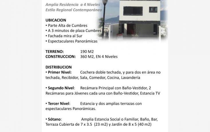 Foto de casa en venta en aaa, cerradas de cumbres sector alcalá, monterrey, nuevo león, 1987634 no 01