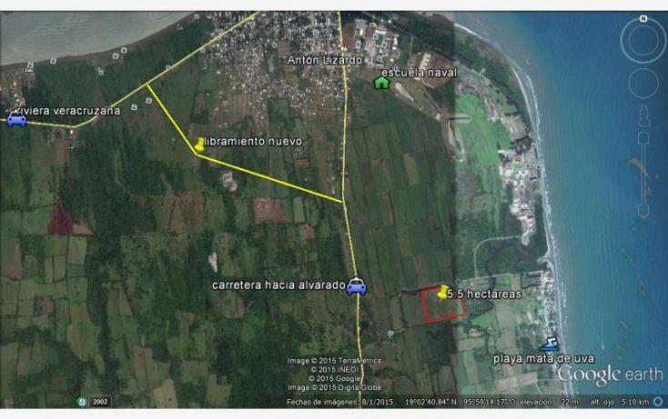 Foto de terreno habitacional en venta en acceso playa mata de uva, anton lizardo, alvarado, veracruz, 1607054 no 01