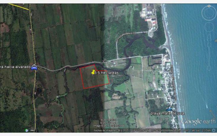 Foto de terreno habitacional en venta en acceso playa mata de uva, anton lizardo, alvarado, veracruz, 1607054 no 02