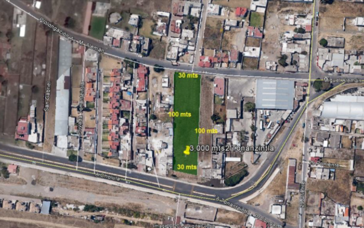 Foto de terreno habitacional en venta en, actipac, san andrés cholula, puebla, 1998762 no 01