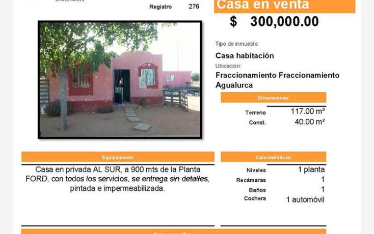 Foto de casa en venta en  , agualurca, hermosillo, sonora, 1934928 No. 01