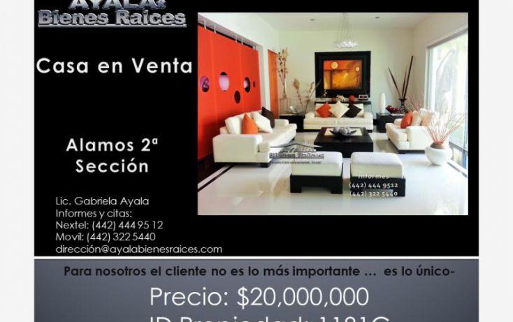 Foto de casa en venta en alamos, álamos 1a sección, querétaro, querétaro, 1160279 no 01