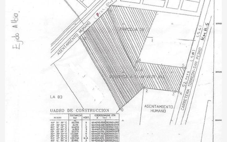 Foto de terreno habitacional en venta en  , albia, torre?n, coahuila de zaragoza, 960321 No. 03