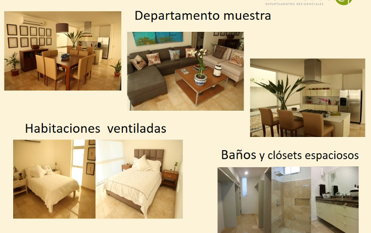 Foto de departamento en venta en  , algarrobos desarrollo residencial, m?rida, yucat?n, 1048601 No. 02
