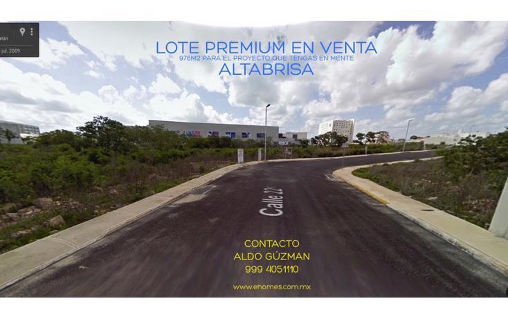 Foto de terreno habitacional en venta en  , altabrisa, mérida, yucatán, 1223823 No. 01