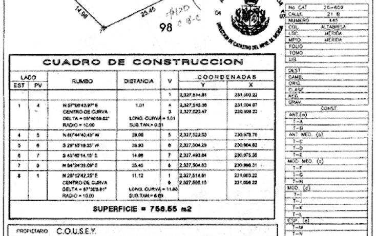 Foto de terreno habitacional en venta en, altabrisa, mérida, yucatán, 1966910 no 05