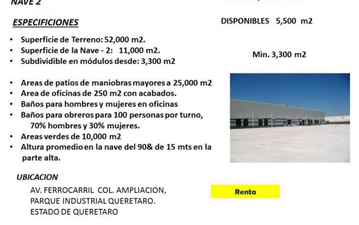 Foto de nave industrial en renta en amd  piq, parque industrial el marqués, el marqués, querétaro, 754145 no 01