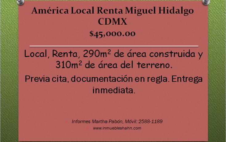 Foto de local en renta en  , américa, miguel hidalgo, distrito federal, 1780750 No. 01