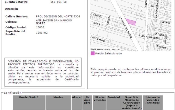 Foto de terreno comercial en venta en  , ampliación san marcos norte, xochimilco, distrito federal, 1973036 No. 08