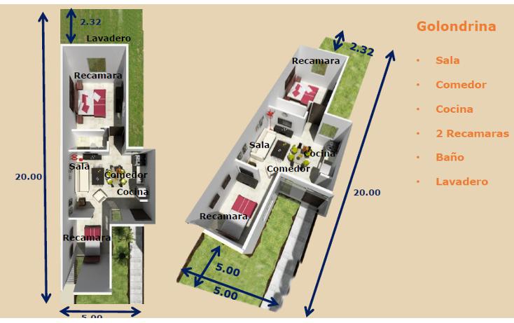 Foto de casa en venta en  , ampliación tixcacal opichen, mérida, yucatán, 1176401 No. 02