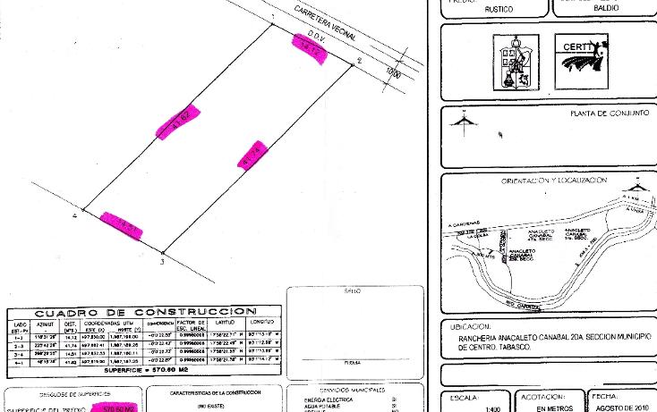 Foto de terreno comercial en venta en  , anacleto canabal 2a secci?n, centro, tabasco, 1136519 No. 04
