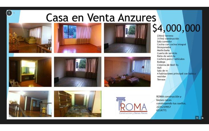 Foto de casa en venta en, anzures, puebla, puebla, 1452217 no 01