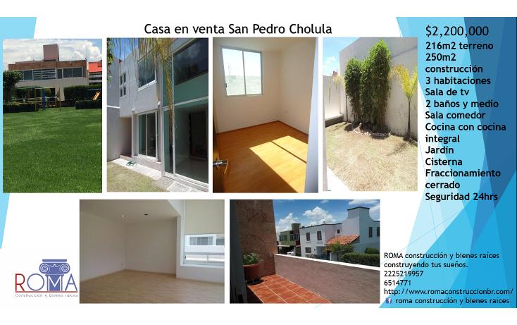 Foto de casa en venta en  , arboledas de zerezotla, san pedro cholula, puebla, 2020865 No. 01