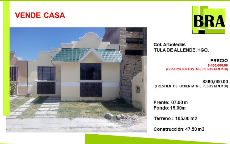 Foto de casa en venta en  , arboledas, tula de allende, hidalgo, 1474983 No. 01