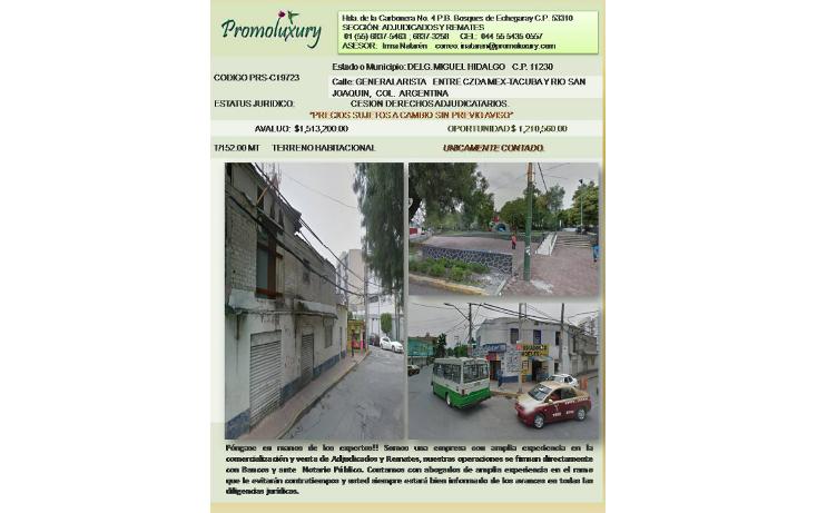 Foto de casa en venta en  , argentina poniente, miguel hidalgo, distrito federal, 1278079 No. 01