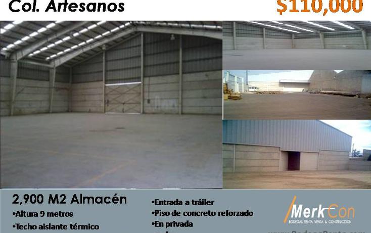 Foto de nave industrial en renta en  , artesanos, san pedro tlaquepaque, jalisco, 1095253 No. 01