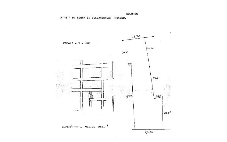 Foto de terreno comercial en venta en  , atasta, centro, tabasco, 1196709 No. 01