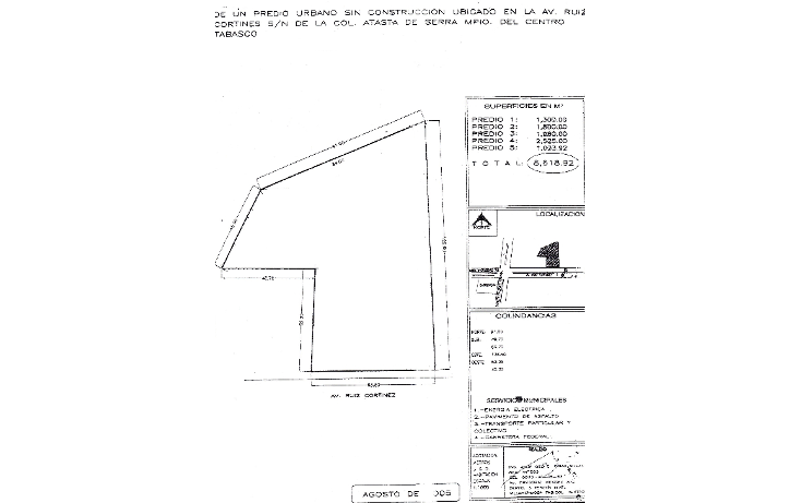 Foto de terreno comercial en venta en  , atasta, centro, tabasco, 1206781 No. 01