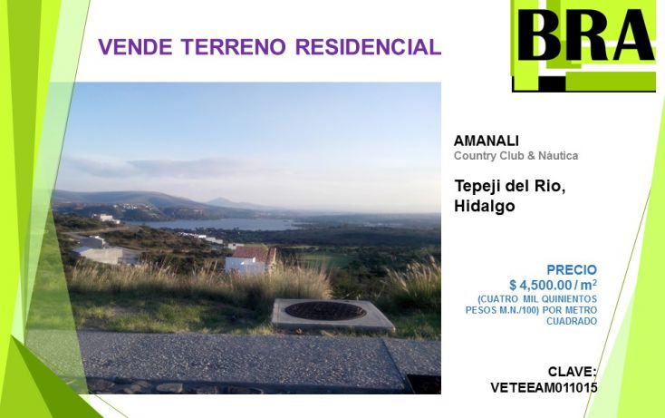 Foto de terreno habitacional en venta en, atengo, tepeji del río de ocampo, hidalgo, 1472757 no 01
