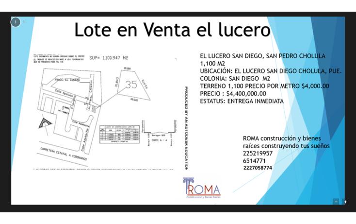 Foto de terreno habitacional en venta en  , atlixcayotl 2000, san andr?s cholula, puebla, 1452317 No. 01