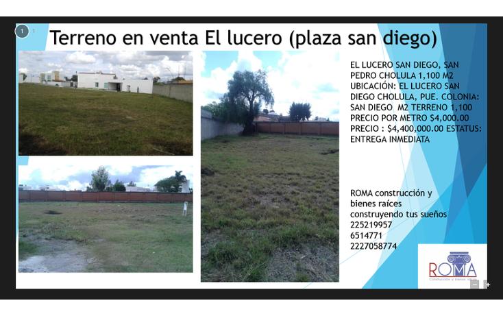Foto de terreno habitacional en venta en  , atlixcayotl 2000, san andr?s cholula, puebla, 1452317 No. 02