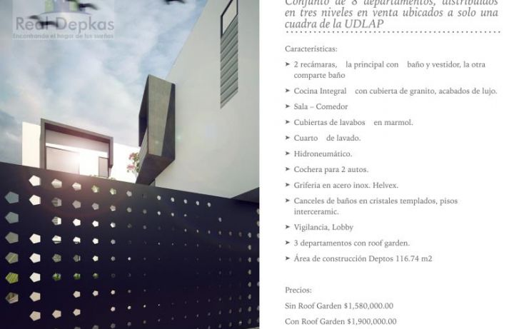 Foto de departamento en venta en atzala 125, universidad de las américas, san andrés cholula, puebla, 1745771 no 03