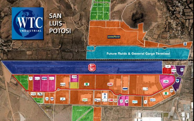Foto de terreno habitacional en venta en av central parque logistico, zona industrial, san luis potosí, san luis potosí, 1486705 no 02