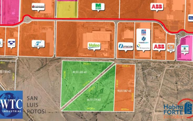 Foto de terreno habitacional en venta en av central parque logistico, zona industrial, san luis potosí, san luis potosí, 1486707 no 01