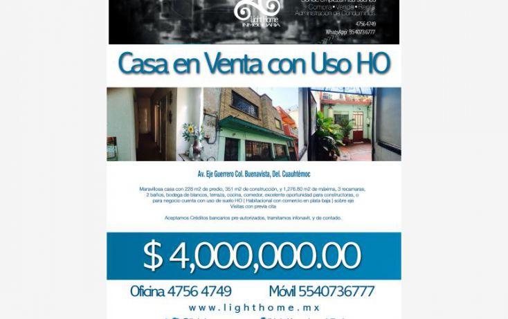 Foto de casa en venta en av eje guerrero 333, buenavista, cuauhtémoc, df, 1730592 no 11