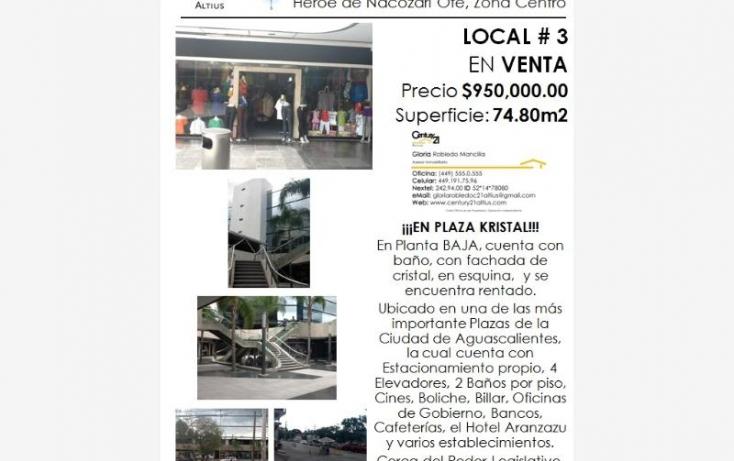 Foto de local en venta en av heroe de nacozari, iv centenario, aguascalientes, aguascalientes, 384953 no 02