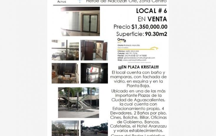 Foto de local en venta en av heroe de nacozari, iv centenario, aguascalientes, aguascalientes, 384953 no 03