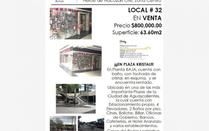 Foto de local en venta en av heroe de nacozari, iv centenario, aguascalientes, aguascalientes, 384953 no 04