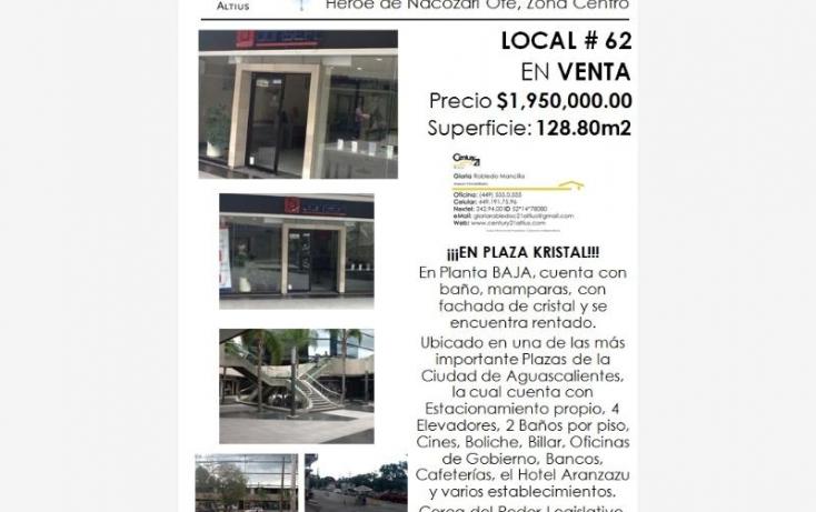 Foto de local en venta en av heroe de nacozari, iv centenario, aguascalientes, aguascalientes, 384953 no 06