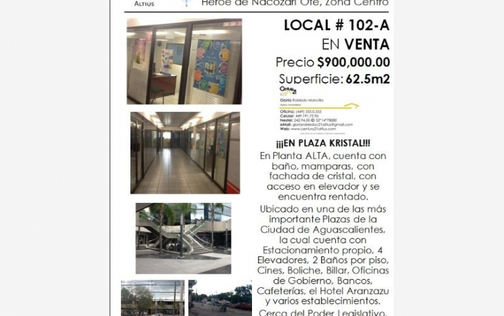 Foto de local en venta en av heroe de nacozari, iv centenario, aguascalientes, aguascalientes, 384953 no 07