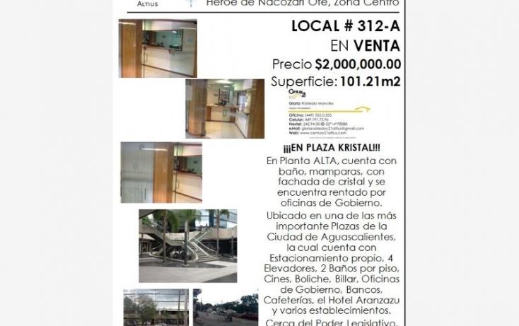 Foto de local en venta en av heroe de nacozari, iv centenario, aguascalientes, aguascalientes, 384953 no 09