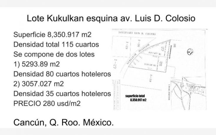 Foto de terreno comercial en venta en av luis donaldo colosio esq bv kukulkan 1, alfredo v bonfil, benito juárez, quintana roo, 562744 no 04