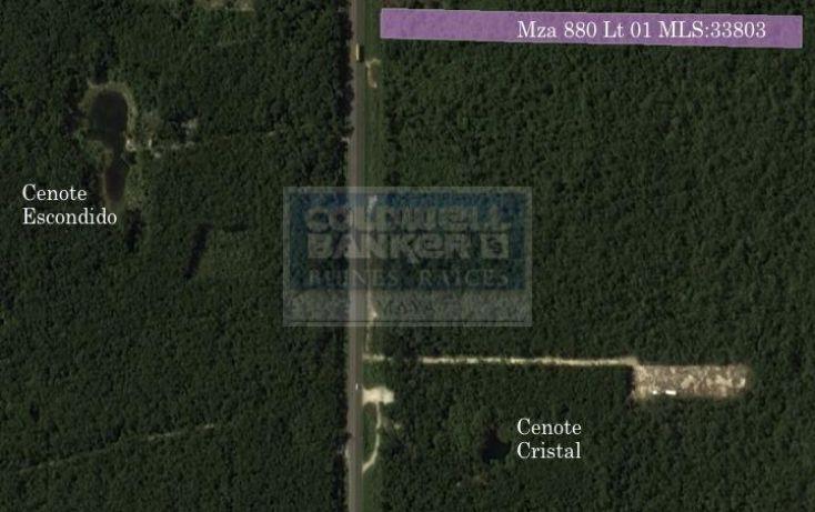 Foto de terreno habitacional en venta en ave tulum oriente, tulum centro, tulum, quintana roo, 586838 no 01