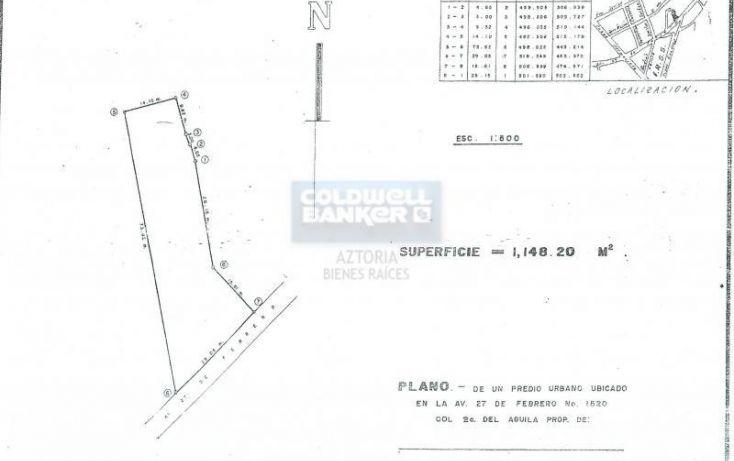 Foto de terreno habitacional en venta en avenida 27 de febrero, gil y sáenz el águila, centro, tabasco, 1618500 no 10