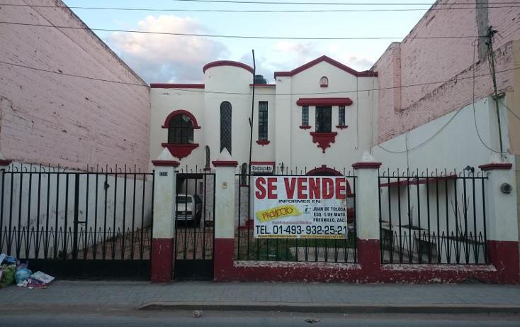 Foto de casa en venta en avenida garcía salinas 412, fresnillo centro, fresnillo, zacatecas, 2661862 No. 01