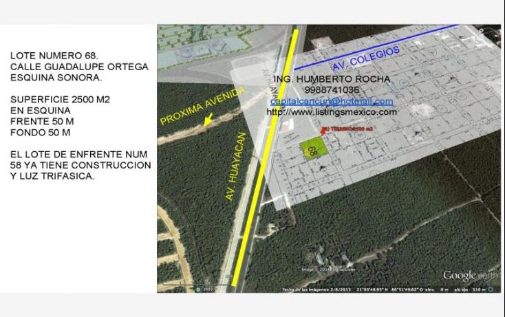Foto de terreno comercial en venta en avenida huayacan 1, abc, benito juárez, quintana roo, 469752 no 03