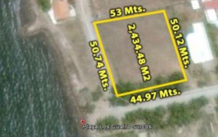 Foto de terreno habitacional en venta en avenida pargo diego y cuatro surcos 17, teacapan, escuinapa, sinaloa, 1727130 no 01