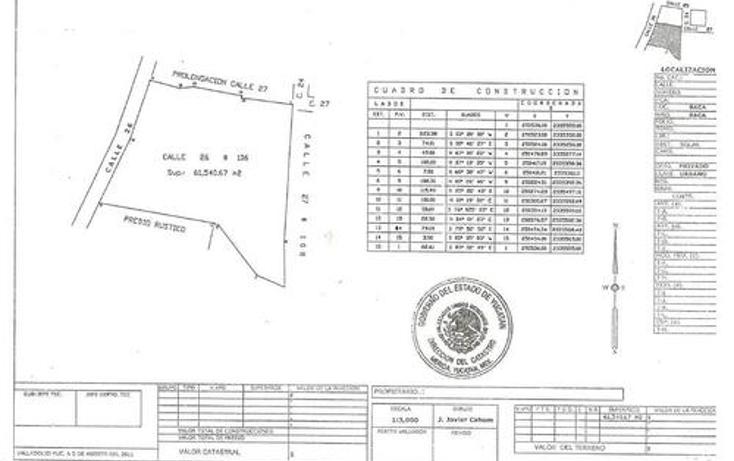 Foto de terreno habitacional en venta en  , baca, baca, yucatán, 1060269 No. 03