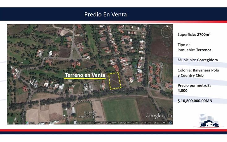Foto de terreno habitacional en venta en  , balvanera polo y country club, corregidora, querétaro, 1342919 No. 04