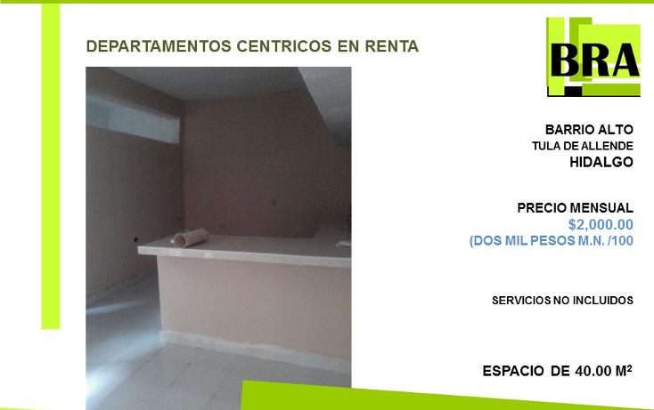Foto de departamento en renta en  , barrio alto, tula de allende, hidalgo, 1551760 No. 01