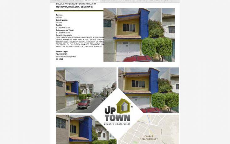 Foto de casa en venta en bellas artes 64, metropolitana segunda sección, nezahualcóyotl, estado de méxico, 1397059 no 01