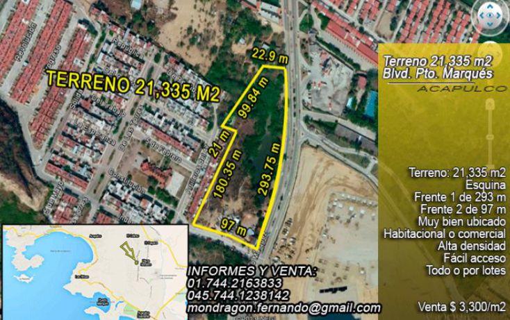 Foto de terreno comercial en venta en blvd cayaco puerto marqués, solidaridad, acapulco de juárez, guerrero, 1377873 no 01