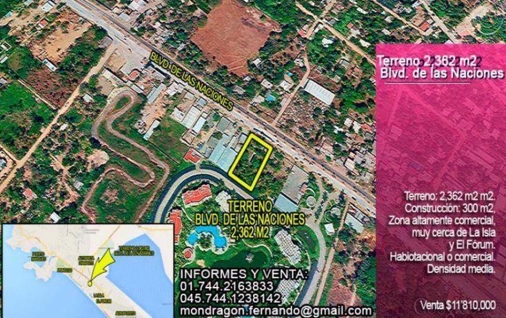 Foto de terreno habitacional en venta en blvd de las naciones, playa diamante, acapulco de juárez, guerrero, 1377863 no 01