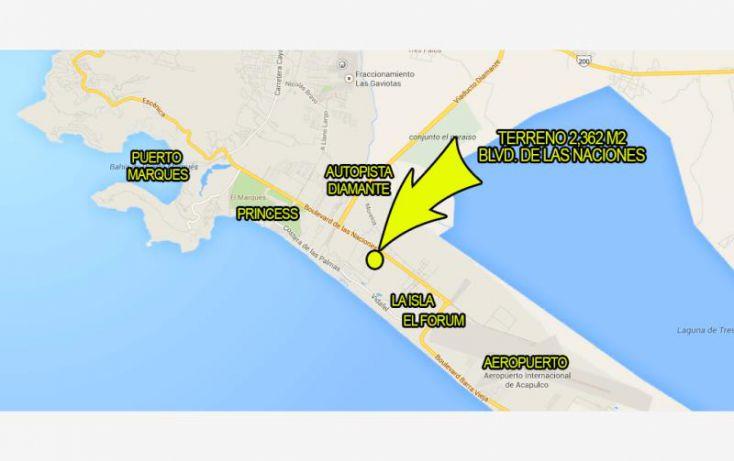 Foto de terreno habitacional en venta en blvd de las naciones, playa diamante, acapulco de juárez, guerrero, 1377863 no 02