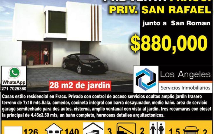 Foto de casa en venta en blvd san francisco 3333, san rafael calería, córdoba, veracruz, 1763888 no 01